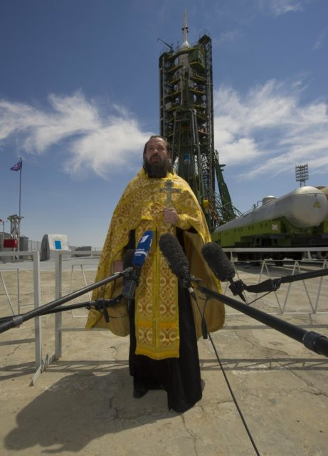 Expedition 32 Soyuz Rocket Blessing