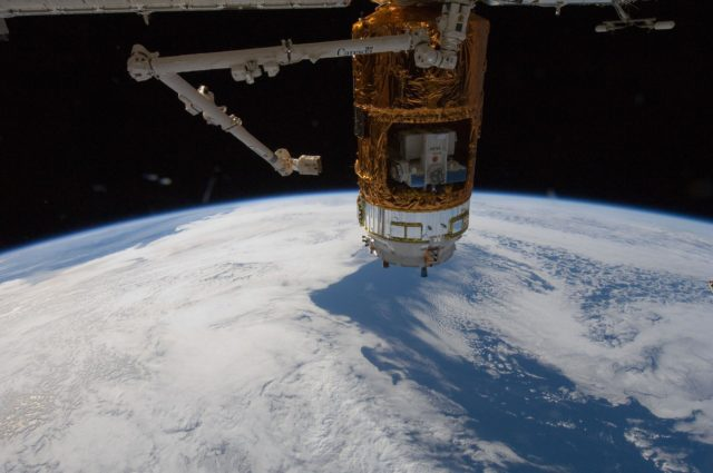 View of HTV3 berthed to Node 2