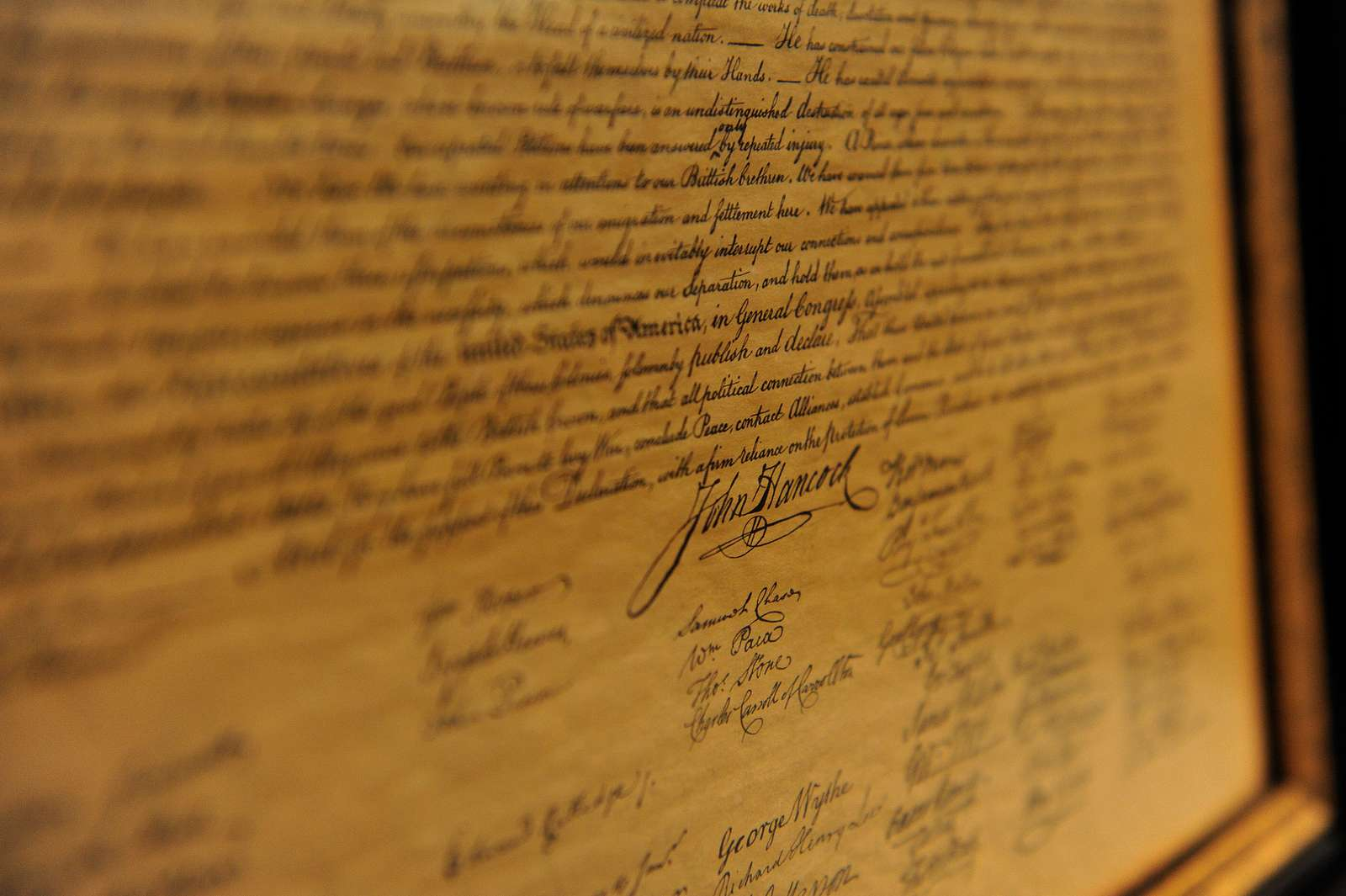 The Declaration of Independence, drafted and signed