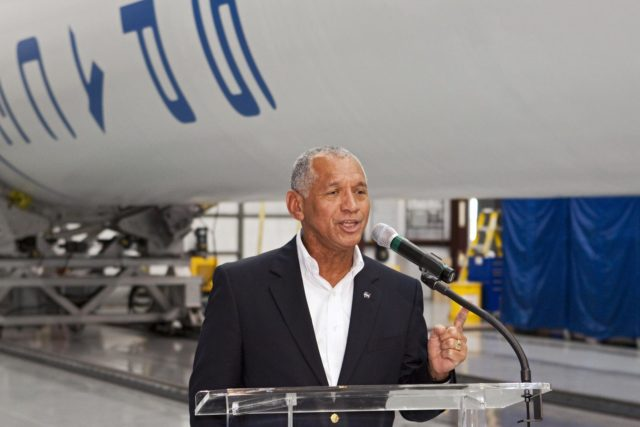 CAPE CANAVERAL, Fla. -- Inside the Space Exploration Technologies, or SpaceX, processing facility near NASA's Kennedy Space Center in Florida, NASA Administrator Charlie Bolden announced new milestones in the nation's commercial space initiatives.     Bolden announced that SpaceX has completed its Space Act Agreement with NASA for Commercial Orbital Transportation Services. SpaceX is scheduled to launch the first of its 12 contracted cargo flights to the space station from Cape Canaveral this October, under NASA's Commercial Resupply Services Program. Bolden also announced NASA partner Sierra Nevada Corp. has conducted its first milestone under the agency's recently announced Commercial Crew Integrated Capability initiative. The milestone, a program implementation plan review, marks an important first step in Sierra Nevada's efforts to develop a crew transportation system with its Dream Chaser spacecraft. Through NASA's commercial space initiatives and programs, the agency is providing investments to stimulate the American commercial space industry. Photo credit: NASA/Kim Shiflett KSC-2012-4586