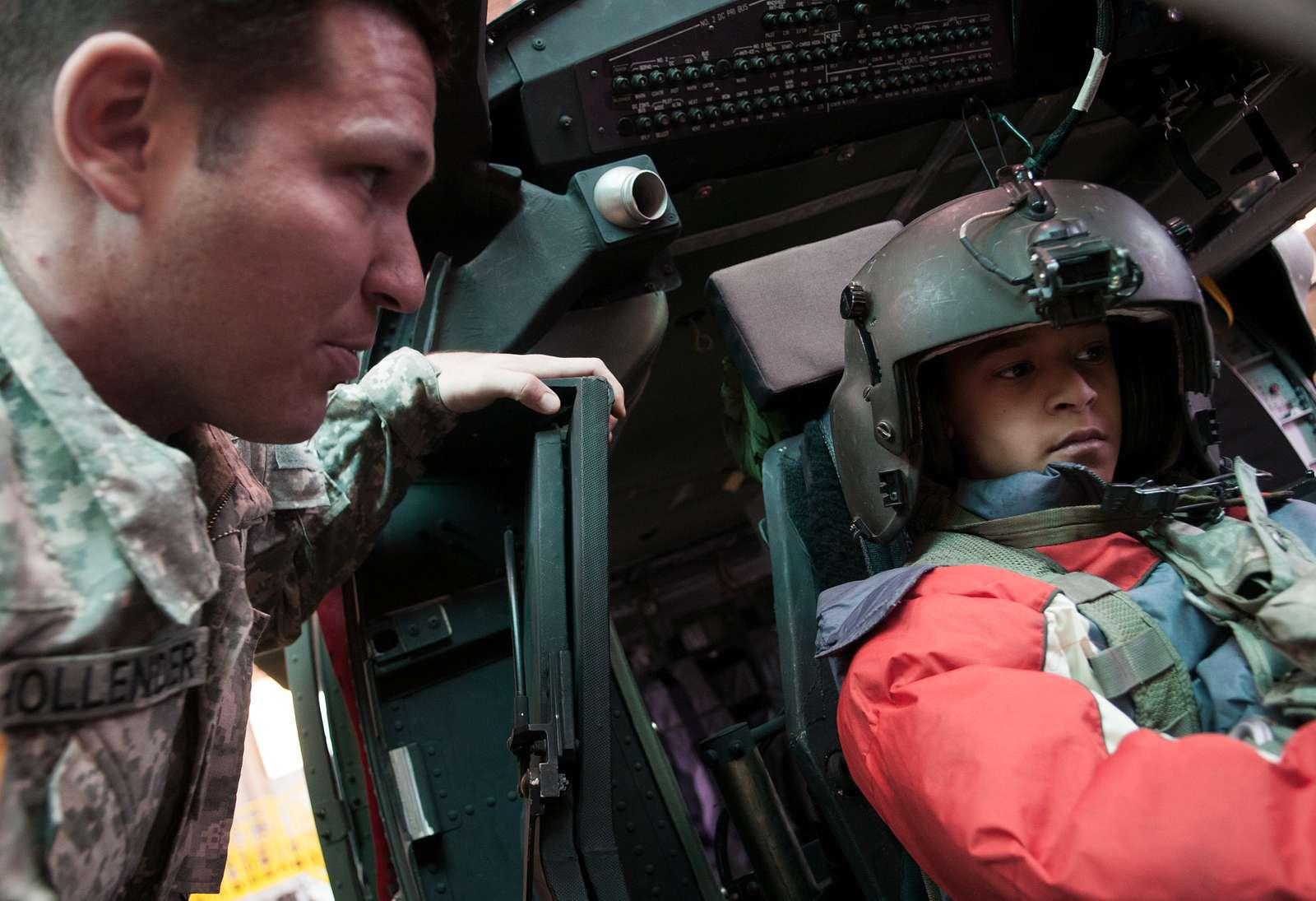 Sgt. Charlie Hollender, a UH-60 Black Hawk crew chief