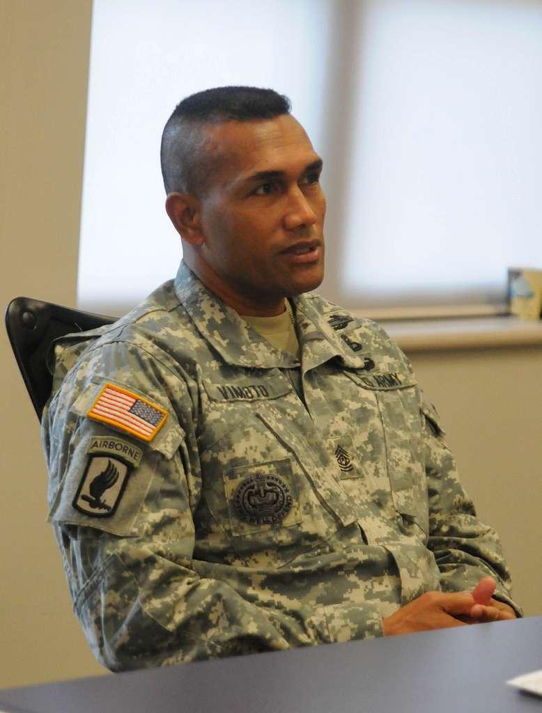 Command Sgt. Maj. Isaia Vimoto, senior enlisted adviser