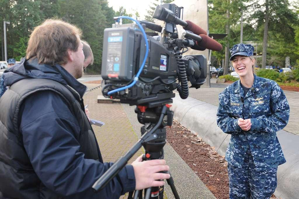 Lt. j.g. Jennifer Noonan, assigned to the Blue crew