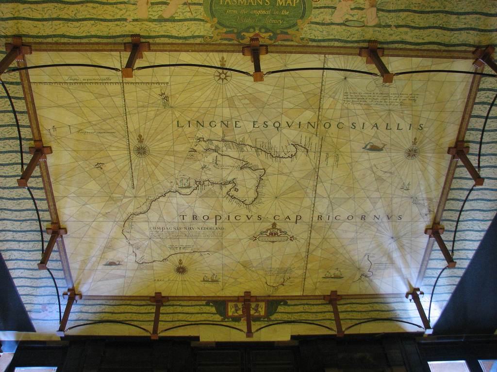 Tasman Map, entrance to Mitchell Library, 2012 / photographed by State Library Library of New South Wales