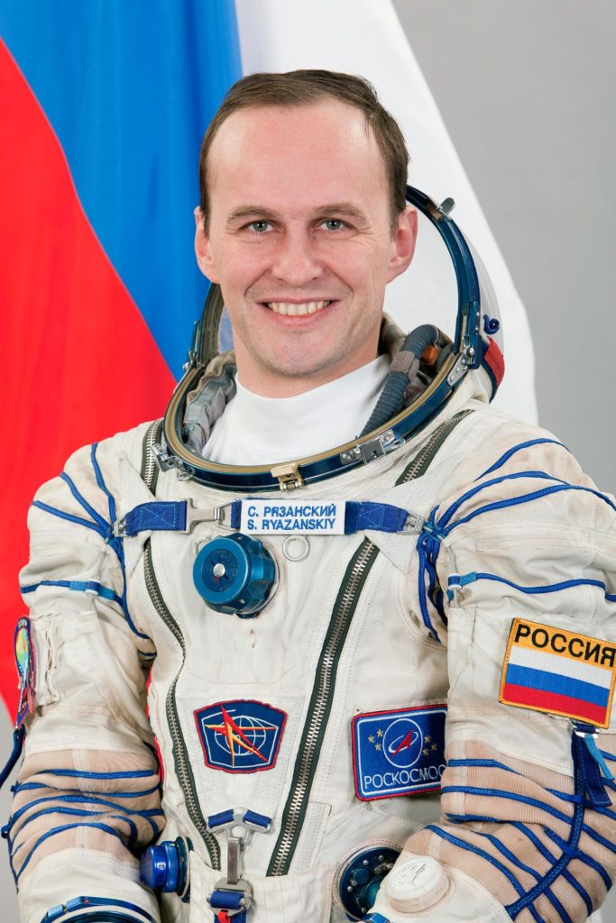 JSC2013-E-013367 (February 2013) --- Portrait of Expedition 35 backup Flight Engineer Sergei Ryazanskiy of Roscosmos, attired in his Russian Sokol launch and entry suit. Photo credit: Gagarin Cosmonaut Training Center jsc2013e013367