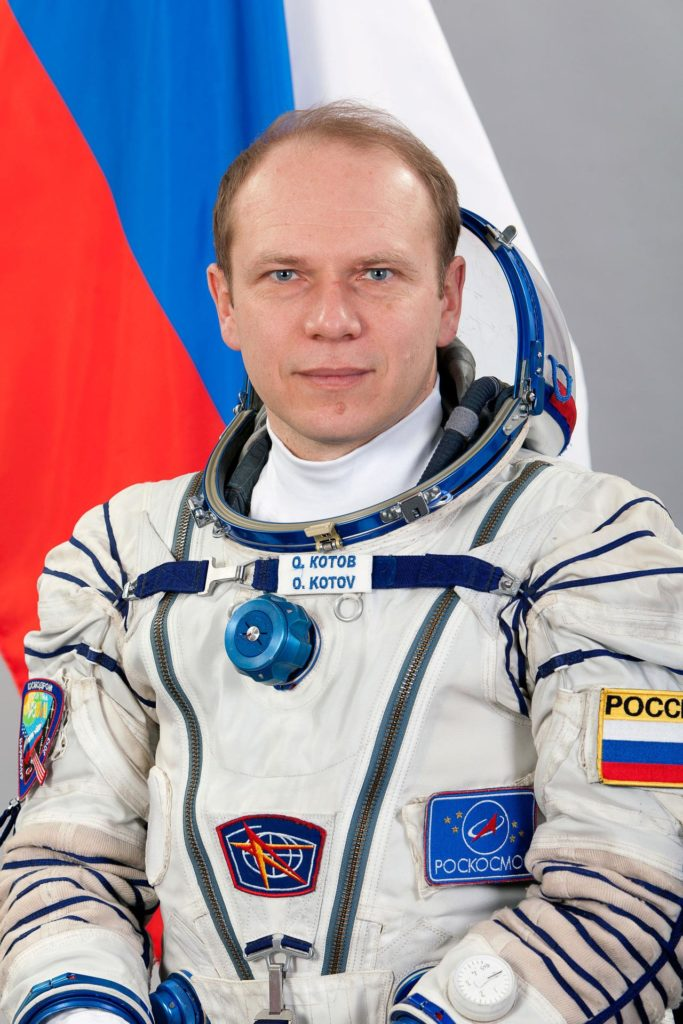 JSC2013-E-013368 (February 2013) --- Portrait of Expedition 35 backup Soyuz Commander Oleg Kotov of Roscosmos, attired in his Russian Sokol launch and entry suit. Photo credit: Gagarin Cosmonaut Training Center jsc2013e013368