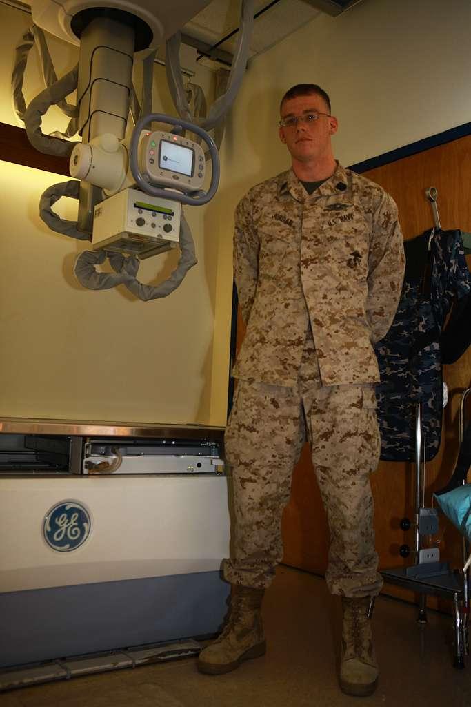 Seaman Bryant P. Jordan, an X-ray technician who works