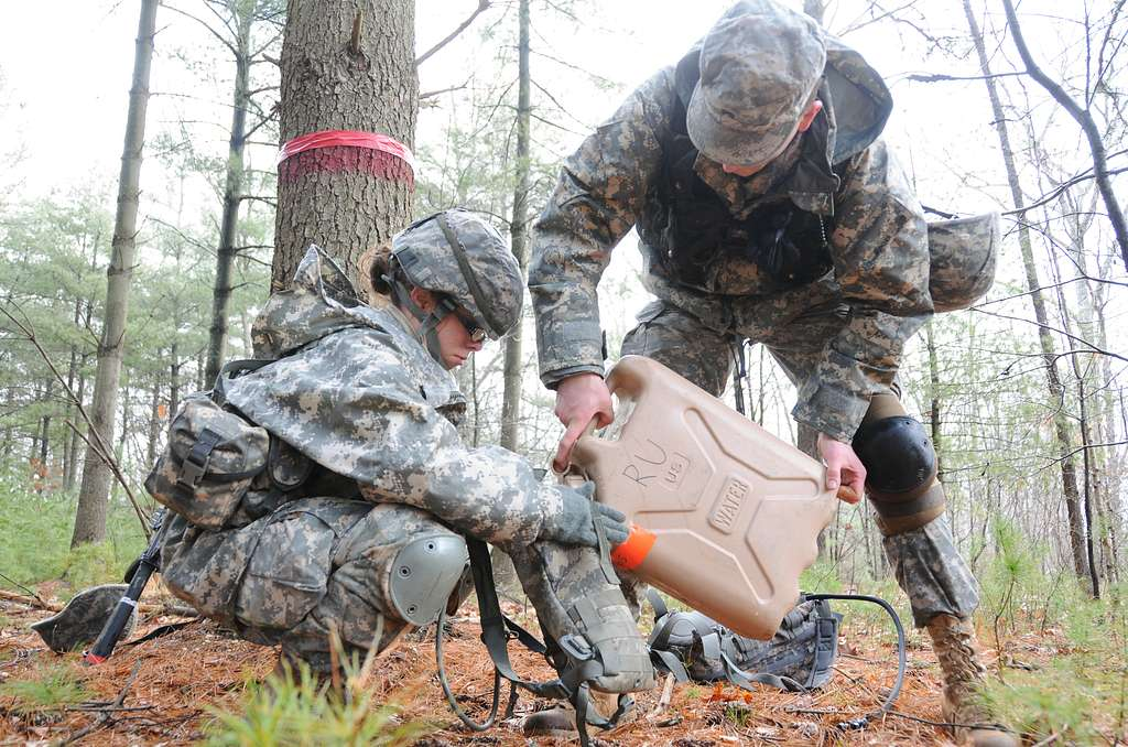 Reserve Officers' Training Corps Cadets from several