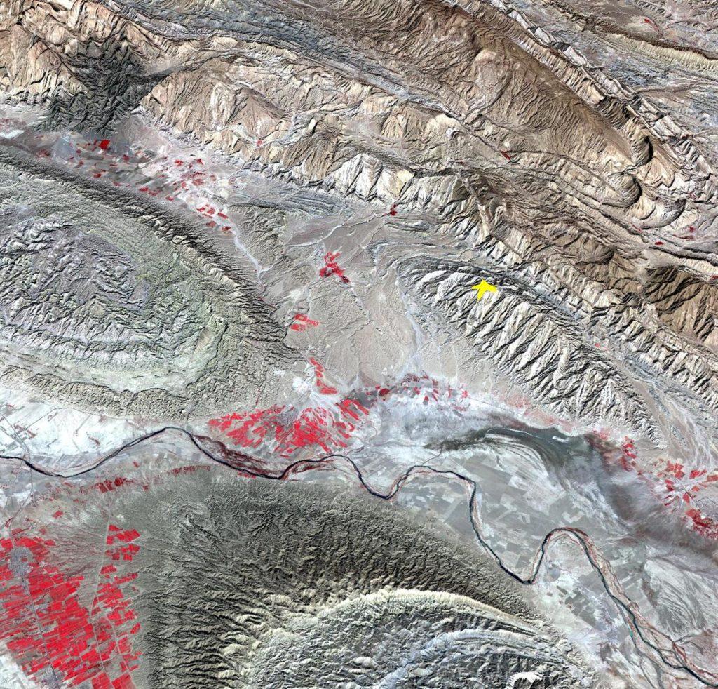 NASA Spacecraft Image Shows Location of Iranian Earthquake