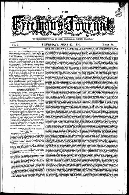 Freeman's Journal 27 June 1850