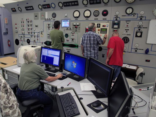 HAMPTON, Va. –Engineers monitor high-speed wind tunnel testing of a 10-inch long ceramic model of the Sierra Nevada Corporation, or SNC, Dream Chaser spacecraft at NASA's Langley Research Center in Hampton, Va. The tests measure how much heat the winged vehicle would experience during ascent and re-entry through the atmosphere, including the spacecraft's lower- and upper-body flaps, elevons and a rudder. They're also helping the company obtain necessary data for the material selection and design of the spacecraft's thermal protection system.      SNC is continuing the development of its Dream Chaser spacecraft under the agency's Commercial Crew Integrated Capability, or CCiCap, initiative, which is intended to lead to the availability of commercial human spaceflight services for government and commercial customers. To learn more about CCP and its industry partners, visit www.nasa.gov/commercialcrew. Image credit: NASA/David Bowman KSC-2013-3629