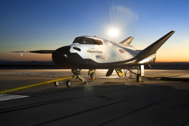 Edwards, Calif. – ED13-0266-023- The Sierra Nevada Corporation, or SNC, Dream Chaser flight vehicle is prepared for 60 mile per hour tow tests on taxi and runways at NASA's Dryden Flight Research Center at Edwards Air Force Base in California. Ground testing at 10, 20, 40 and 60 miles per hour is helping the company validate the performance of the spacecraft's braking and landing systems prior to captive-carry and free-flight tests scheduled for later this year.          SNC is continuing the development of its Dream Chaser spacecraft under the agency's Commercial Crew Development Round 2, or CCDev2, and Commercial Crew Integrated Capability, or CCiCap, phases, which are intended to lead to the availability of commercial human spaceflight services for government and commercial customers. To learn more about CCP and its industry partners, visit www.nasa.gov/commercialcrew. Image credit: NASA/Ken Ulbrich KSC-2013-3230
