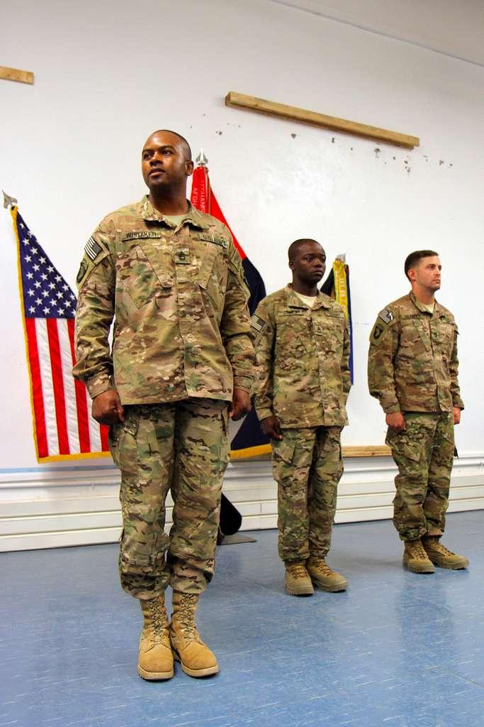 U.S. Army Sgt. 1st Class Danielle A. Whitaker (left),
