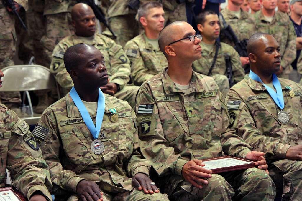 U.S. Army Sgt. 1st Class Danielle A. Whitaker (right)