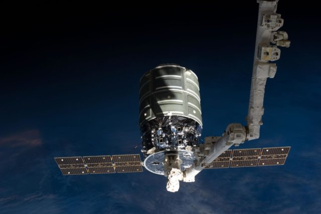 Cygnus release by Canadarm2.