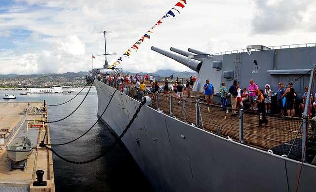 USS Missouri. Pearl Harbour.