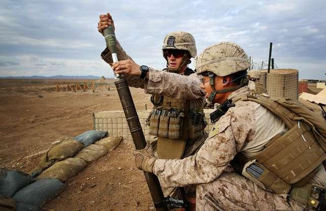 Marine Corps Mortarmen