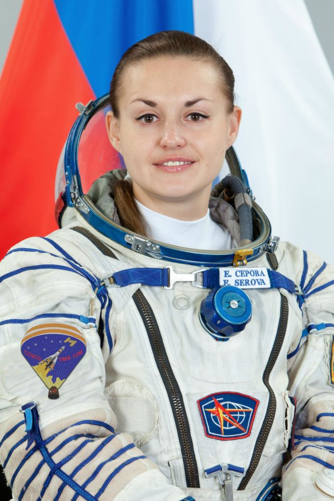 JSC2014-E-021426 (11 Dec. 2013) --- Russian cosmonaut Elena Serova, Expedition 39 backup crew member, attired in a Russian Sokol launch and entry suit, takes a break from training in Star City, Russia to pose for a portrait. Photo credit: Gagarin Cosmonaut Training Center jsc2014e021426