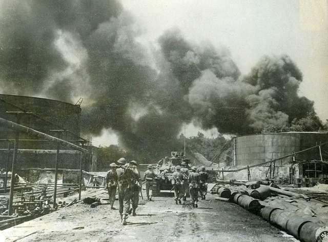 Royal Dutch Shell Oil Refinery - Balikpapan, Borneo - 1945