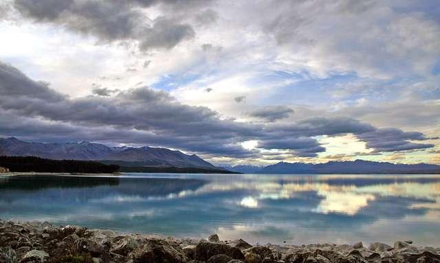 Lake Pukaki landscape.