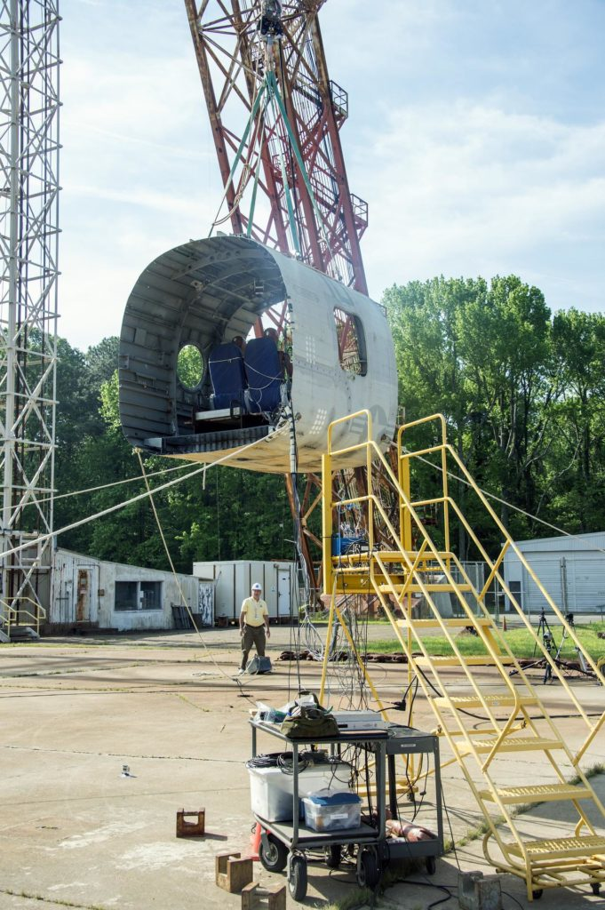 TRACT 2 Frame Drop Test AT NASA Langley Research Center's Landin