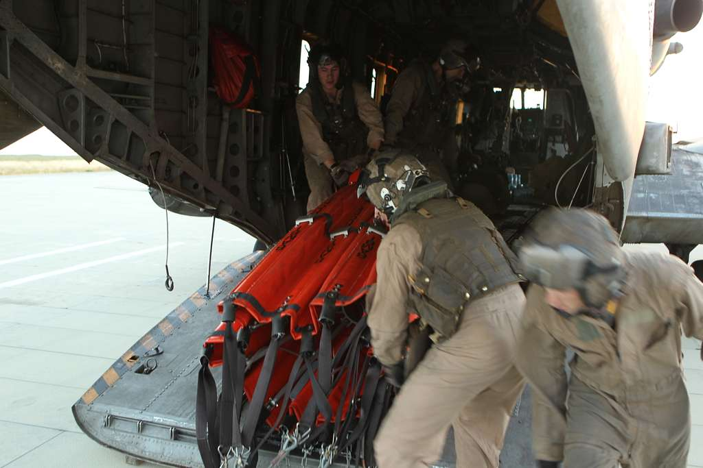 U.S. Marines with Marine Heavy Helicopter Squadron