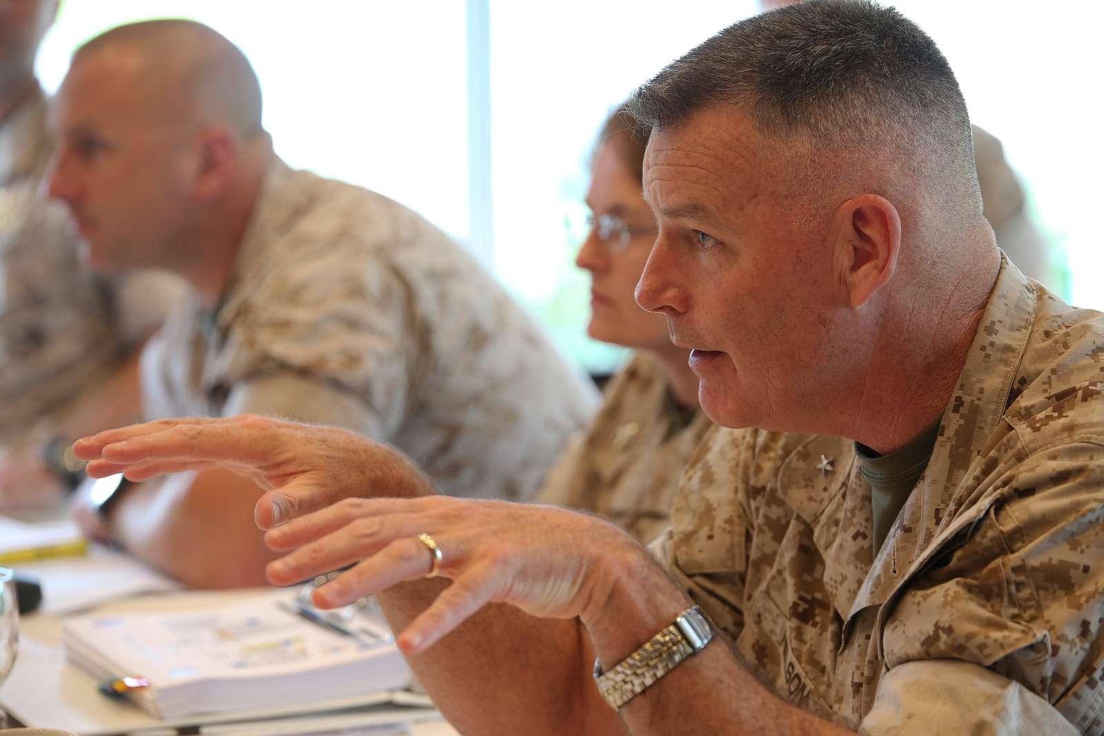 Brig. Gen. Niel E. Nelson gives opening remarks June