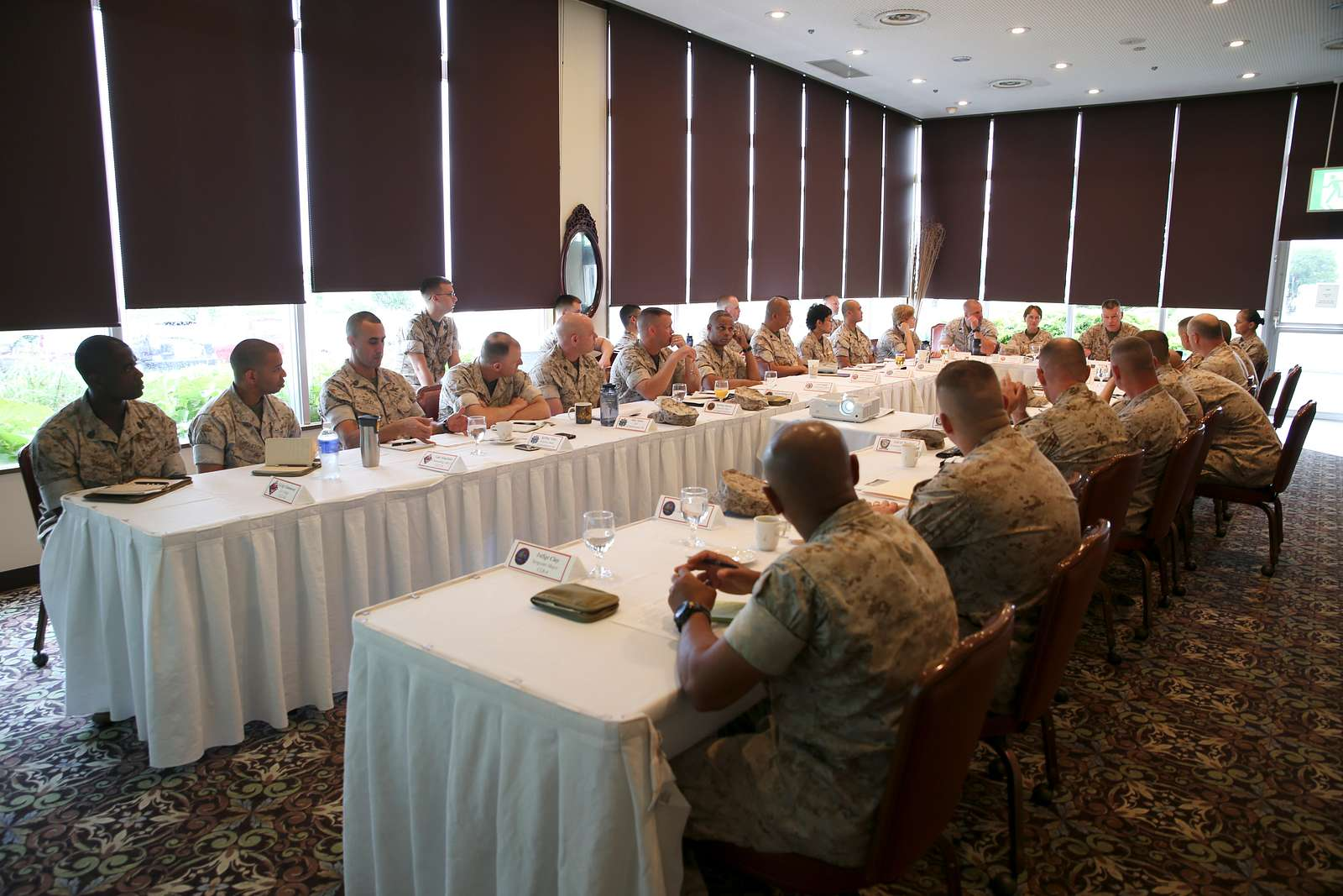 Commanding officers and senior enlisted members with