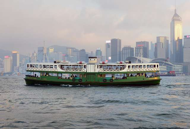 On Victoria Harbour. Hong Kong.