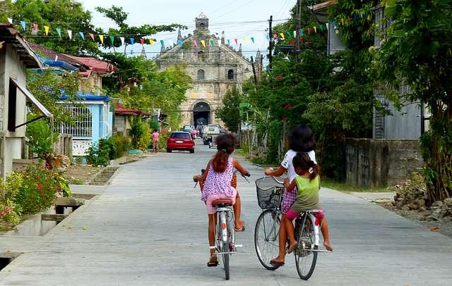 Street scene. Paoay Philippines.