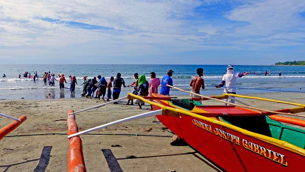 Beach fishing. Philippines