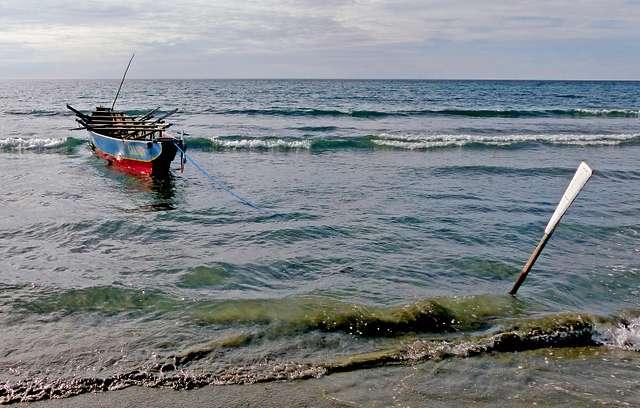 Beach scene. Philippines.