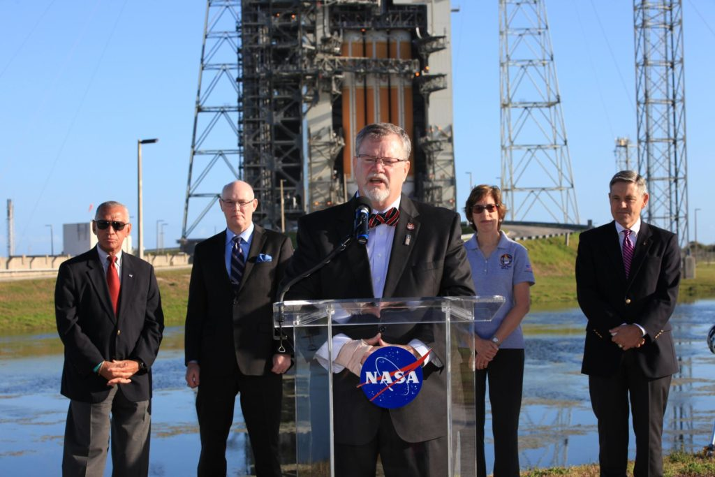 Charlie Bolden Talks to Media About Orion Mission