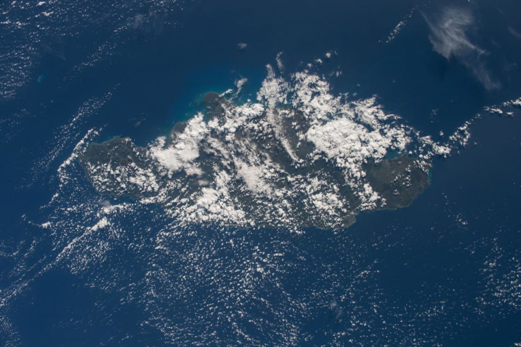 """ISS042E135484 (01/10/2015) --- NASA astronaut Terry Virts flight engineer of Expedition 42 on the International Space Station tweeted this Caribbean image of the sunny isle of  #""""Jamaica"""" on Jan. 10, 2015. iss042e135484"""