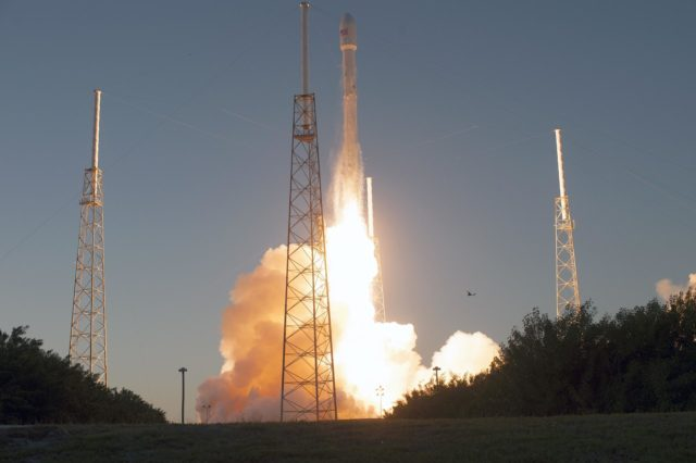 NOAA's Deep Space Climate Observatory spacecraft, or DSCOVR, gets a boost into space aboard the SpaceX Falcon 9 rocket. Liftoff from Space Launch Complex 40 at Cape Canaveral Air Force Station in Florida occurred at 6:03 p.m. EST. DSCOVR is a partnership between NOAA, NASA and the U.S. Air Force, and will maintain the nation's real-time solar wind monitoring capabilities. To learn more about DSCOVR, visit http://www.nesdis.noaa.gov/DSCOVR.  Photo credit: NASA/Tony Gray and Tim Powers KSC-2015-1364