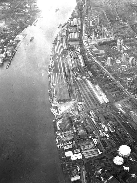 Aerial view of the Elswick Works