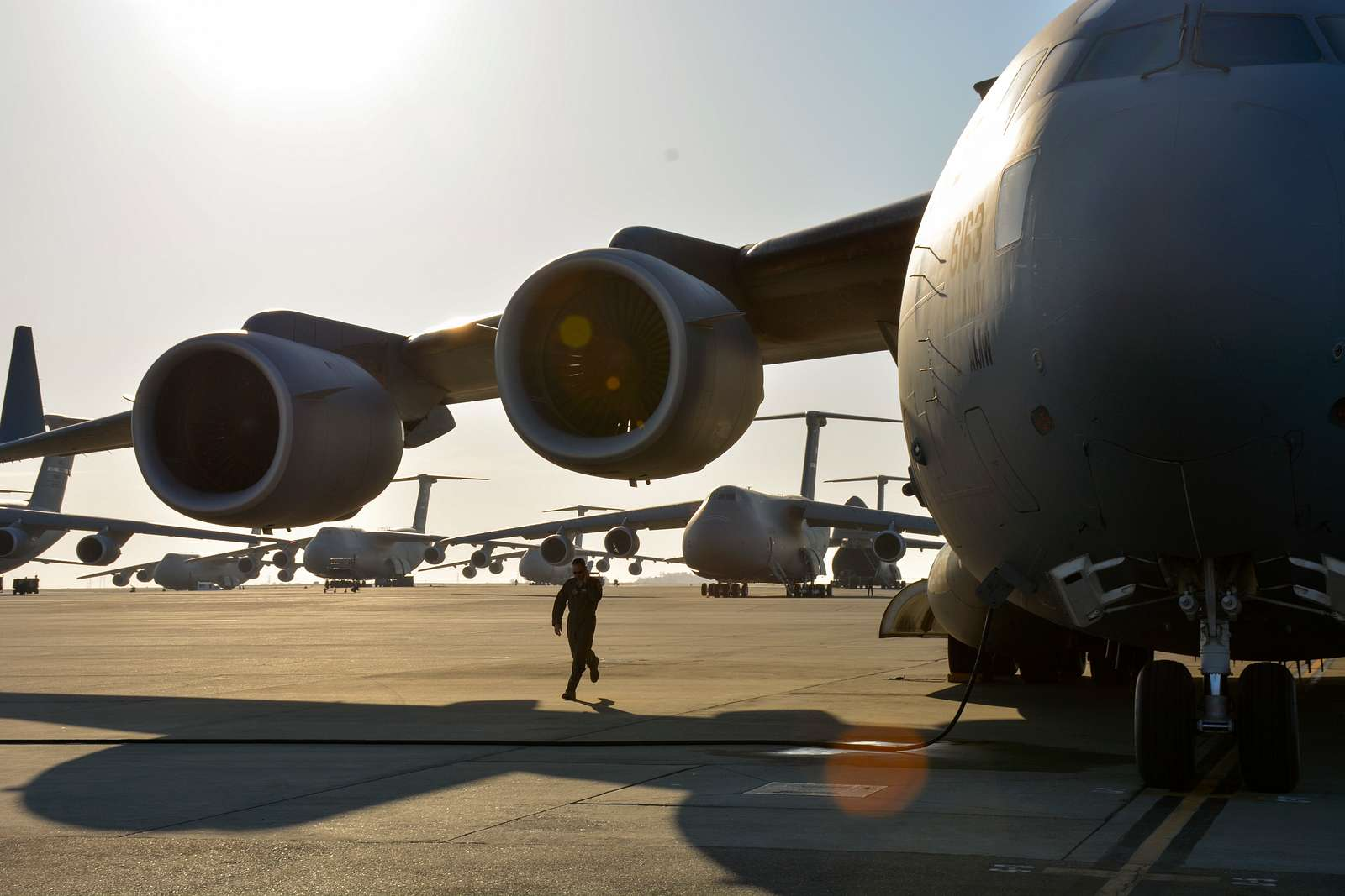 The 301st Airlift Squadron provided airlift in a C-17