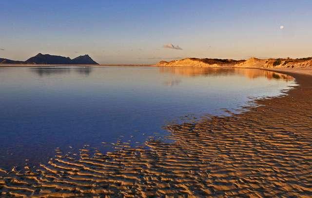 Sunset Ruakaka River Mouth. NZ