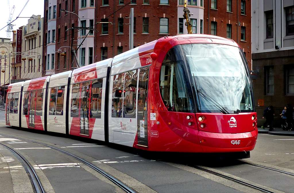 Sydney's light rail.