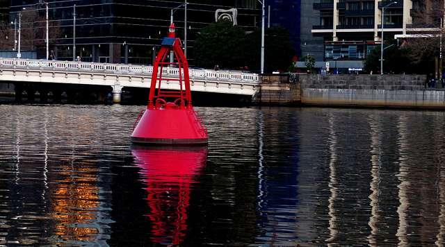 Channel marker Yarra River. Melbourne.