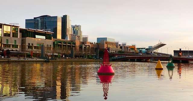Evening along the Yarra River Melbourne.