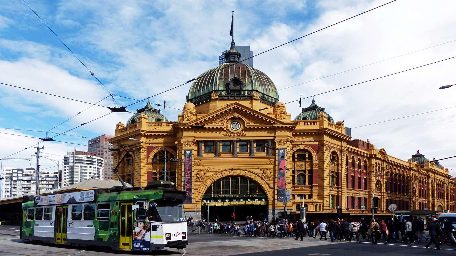 Flinders Street Station Melbourne.Aust.