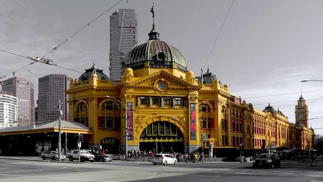 Flinders St Station Melbourne.