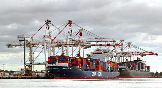 Container terminal. Port of Melbourne.