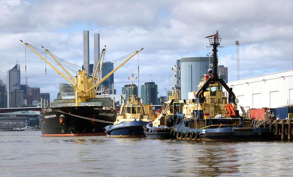 Dockside. Port of Melbourne.