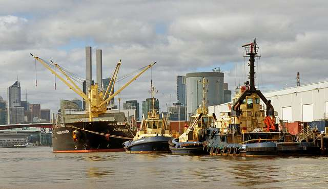 Shipping Port of  Melbourne Aust.
