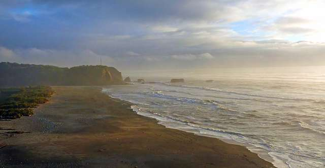 Evening. Punakaiki Beach NZ