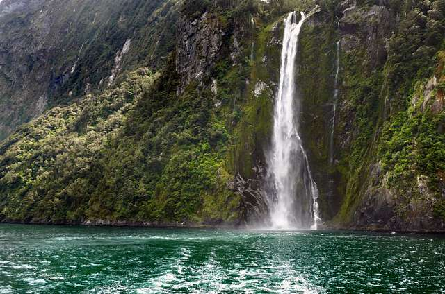 The Stirling Falls Milford Sound NZ