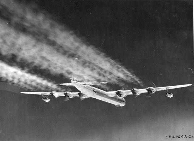 B-36 In Flight