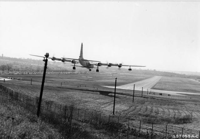 B-36 with B-58 2